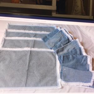 Fringed Chambray Napkins 8 With 4 Placemats